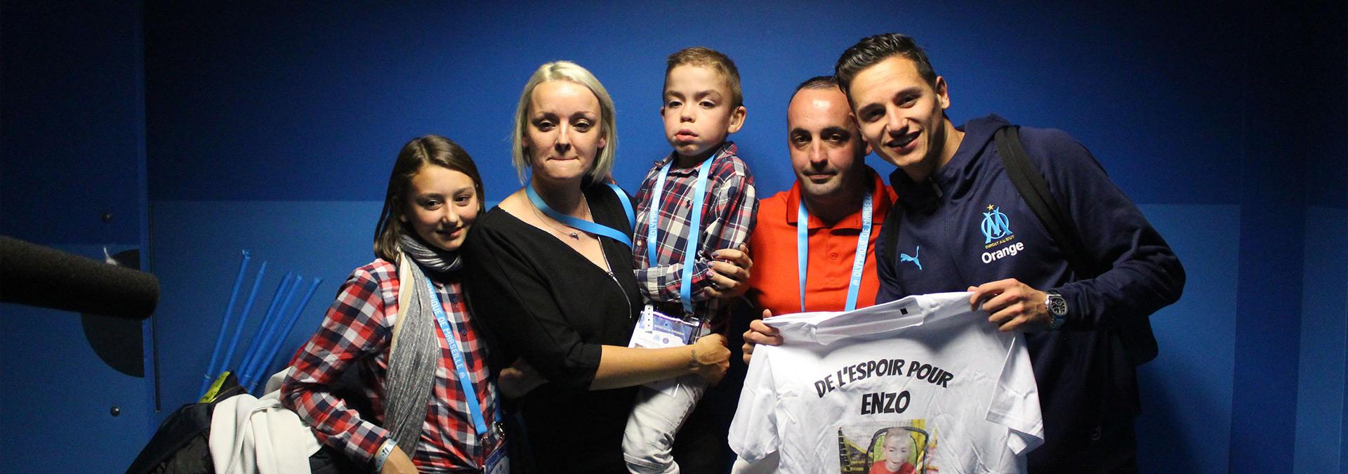 Florian Thauvin et enzo, un enfant malade