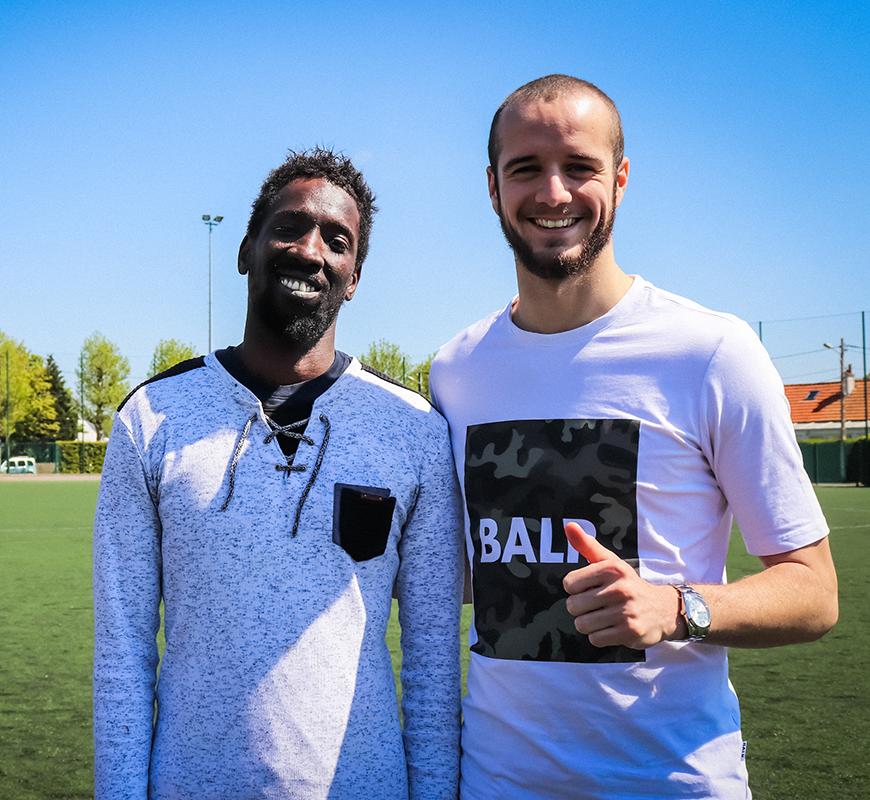 portrait de Mamadou et Victor Lekhal